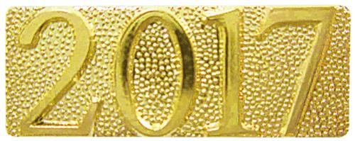 Gold 2017 Metal Chenille Letter Insignia