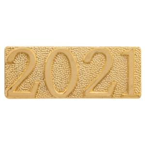 Gold 2021 Metal Chenille Letter Insignia