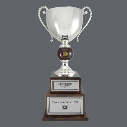 "30"" Italian Style Trophy Cup - Silver Metal"