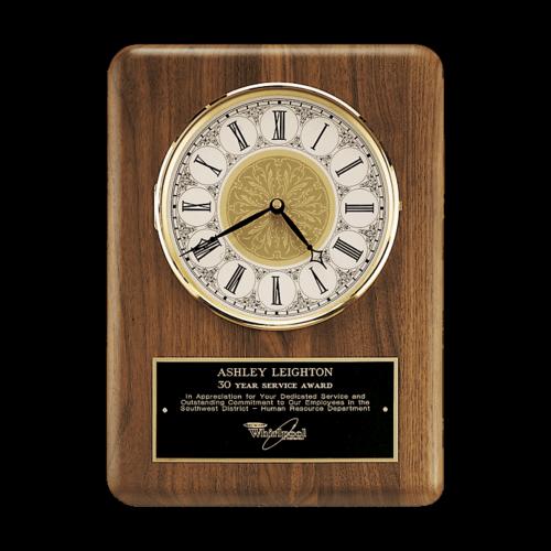 """11"""" x 15"""" Walnut Clock"""