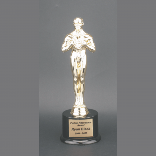 "11"" Male Achiever Gold Plastic Trophy"