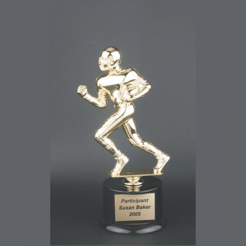 "11"" Male Football Gold Plastic Trophy"
