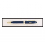 Blue Euro Pen with Gold Trim