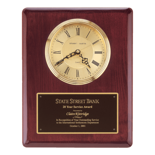 "13"" Rosewood Piano-Finish Clock with 3 hand movement (1 Day Rush)"