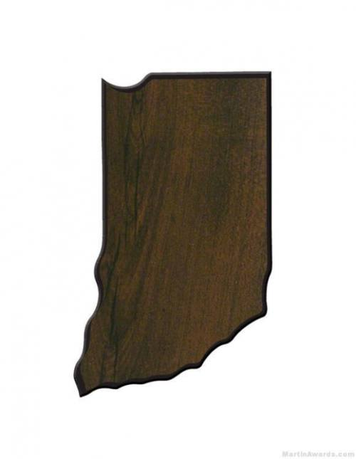 Indiana State Shaped Plaque 1