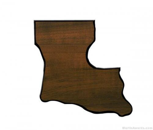 Louisiana State Shaped Plaque