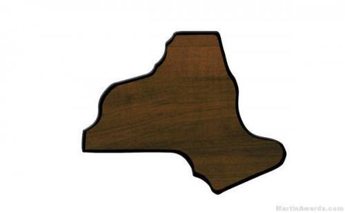 New York State Shaped Plaque