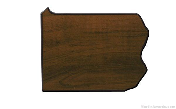 Pennsylvania State Shaped Plaque 1