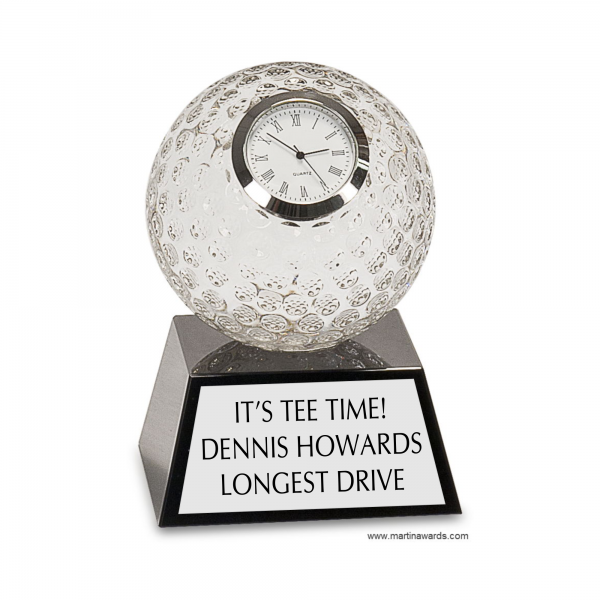 Premier Crystal Golf Ball Clock