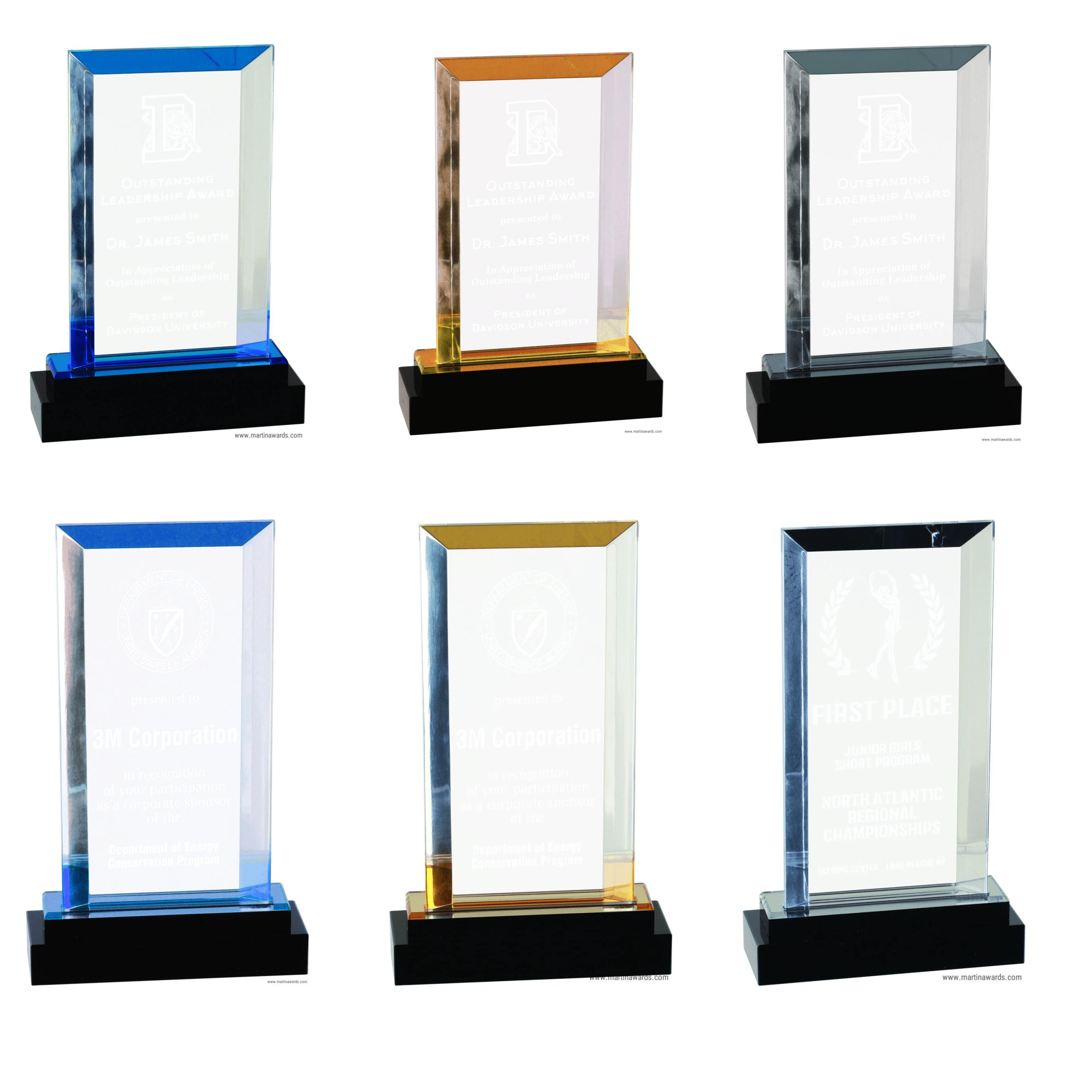 Rectangle Fusion Impress Acrylic Awards Martin Awards