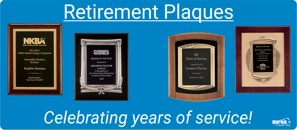 Retirement Gift Ideas 2019 Plaques