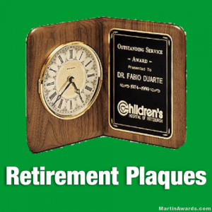 Retirement Plaque Awards