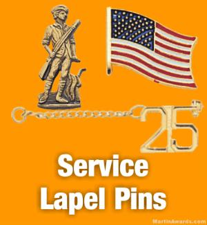 Service Lapel Pins