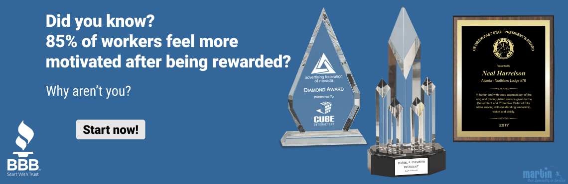 Workers are motivated after sales awards