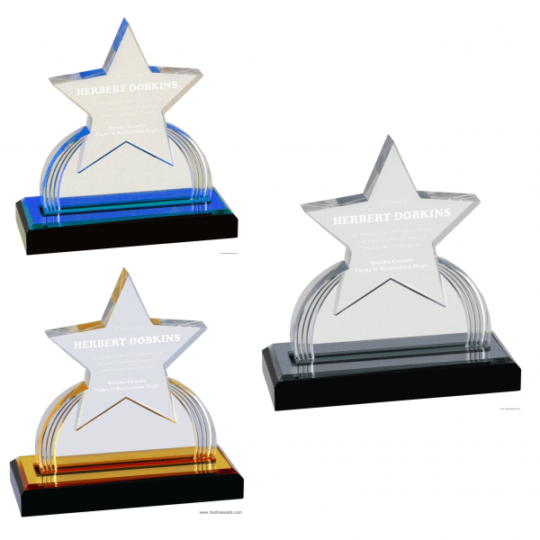 Star Carved Impress Acrylic awards