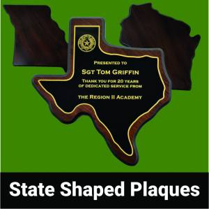 State Shaped Plaques