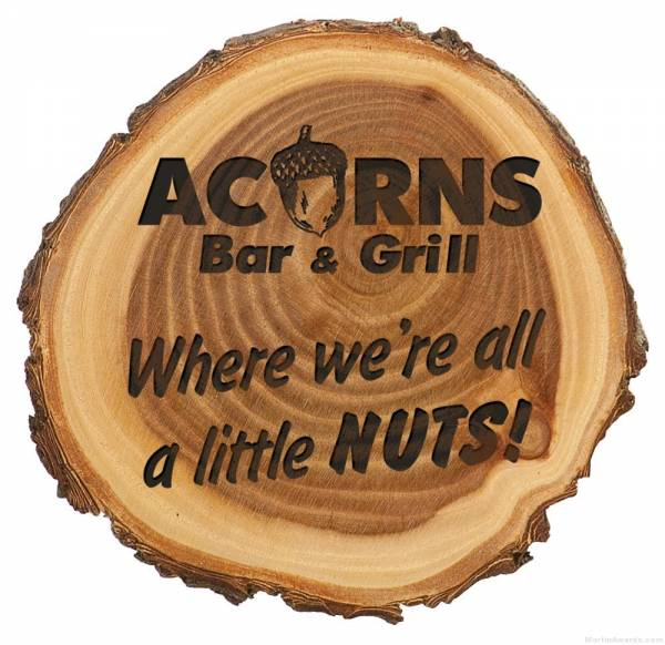 9″ Engraved Wood Plaque