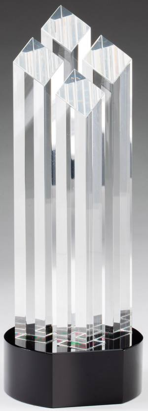 Four column glass transparent award