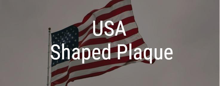 USA Shaped Award Plaque