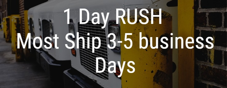 1 Day rush awards - Most items ship 3 to 5 business days