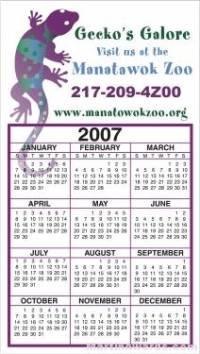 Business Calendar Magnet - Large - Four Color Process