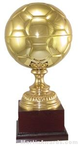 "Trophy Cup - 15-1/4"" Gold Soccer"