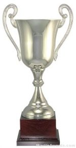 "12-1/2""  ARG 1000 Silver Plated Trophy Cup"
