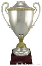 "23-1/4""  ARG 1000 Silver Plated Trophy Cup"
