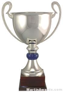 "21-1/2"" Engravable ARG 1000 Silver Plated Trophy Cup"