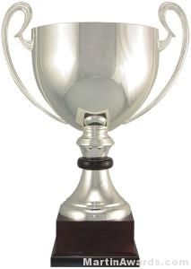 """16-1/2"""" ARG 1000 Silver Plated Trophy Cup"""