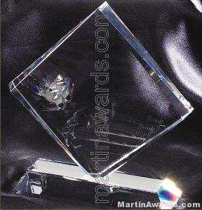 Crystal Glass Awards – 6 1/2″ x 7″ Genuine Prism Optical 1