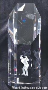"Crystal Glass Awards - 3"" x 8 1/2"" Genuine Prism Optical"