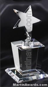 Crystal Glass Awards – 4″ x 8″ Genuine Prism Optical With Base 1