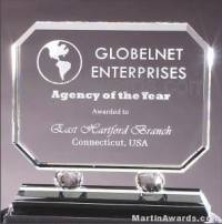 "Crystal Glass Awards - 8"" x 8 1/4"" Prism Optical"