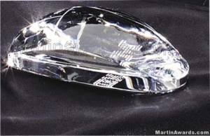 "Crystal Glass Awards - 2 1/4"" x 4 1/2"" Genuine Prism Optical Crystal Mouse (not an actual computer m"