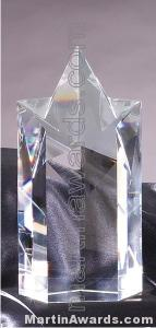 Crystal Glass Awards – 4 1/4″ x 8″ Genuine Prism Optical Crystal 1
