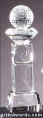 Crystal Glass Awards – 3″ x 9 3/4″ Genuine Prism Optical Crystal 1