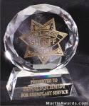 "Crystal Glass Awards - 4"" x 5"" Prism Optical Crystal"