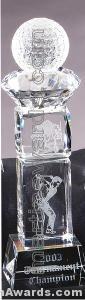 Crystal Glass Awards – 3″ x 11″ Genuine Prism Optical Crystal 1