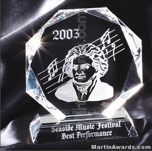 Crystal Glass Awards – 5″ x 6″ Genuine Prism Optical Crystal 1