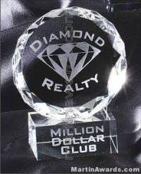 "4"" x 5 1/2"" Genuine Prism Optical Crystal Glass Awards"