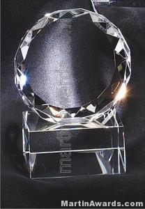 3 1/2″ x 4″ Genuine Prism Optical Crystal Glass Awards 1