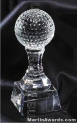 """3 1/4"""" x 7 3/4"""" Golfball Prism Optical Crystal Glass"""
