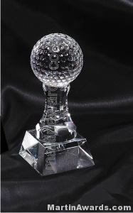 "2 1/2"" x 6"" Golfball Prism Optical Crystal Glass"