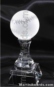3″ x 8″ Baseball Prism Optical Crystal Glass 1