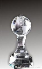 """3 1/4"""" x 8"""" Small World Prism Optical Crystal Glass"""