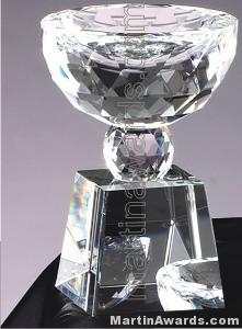 """3"""" x 6 1/2"""" Prism Optical Crystal Glass"""