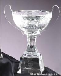 "8 1/4"" x 10"" Genuine Glass Awards Cup With Base"