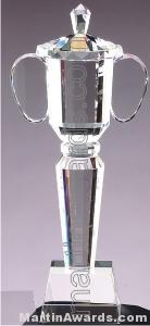 3 1/4″ x 13″ Genuine Prism Optical Crystal Glass Awards Cup With Base 1