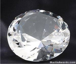 """4"""" Diameter Genuine Glass Awards Diamond Shape"""